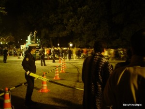 Police Herding People at Meiji Jingu