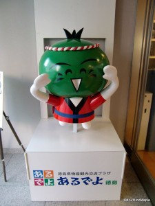 Sudachi-kun. An unknown character found at the foot of Mt. Bizan.