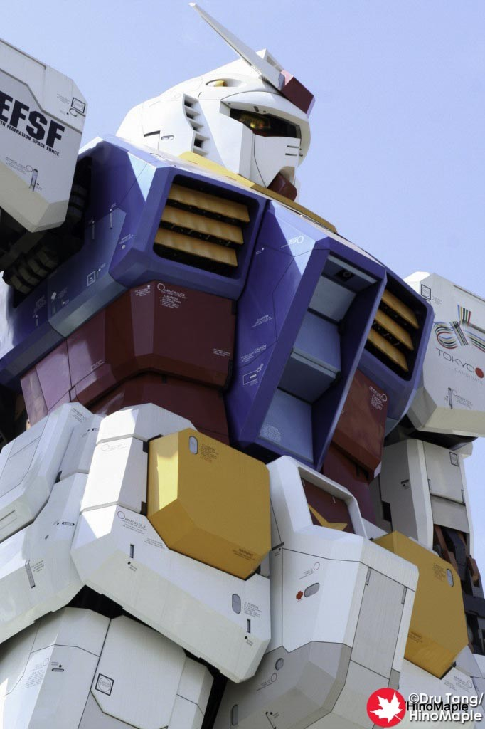 Close-up of the Gundam