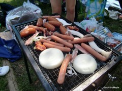 Grilling in a group is organized chaos.