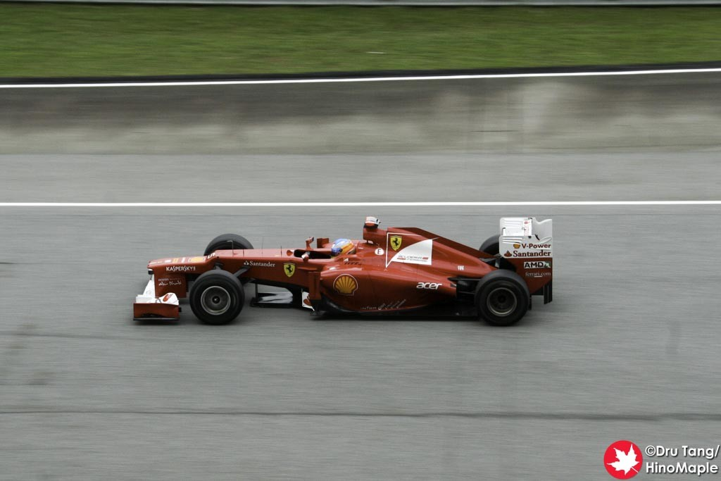 2012 Malaysian Grand Prix Winner: Fernando Alonso (Taken during FP3)