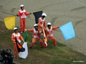 Motegi Course Workers After the Race