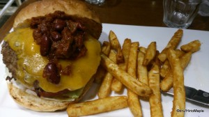 J.S. Burger's Chili Cheese Burger