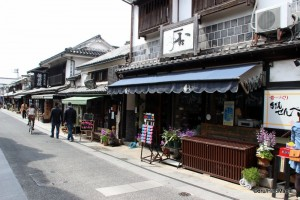 Shops in the Bikan District of Kurashiki