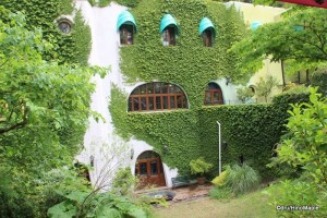 Outside the Ghibli Museum