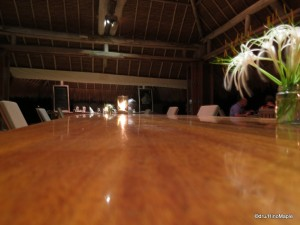 Dinner at the Long Table at the Couple's Dining Area