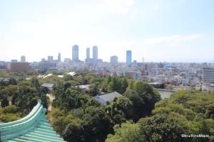 Nagoya Station from Nagoya Castle