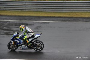 Valentino Rossi on the Back Straight Leading to the Hairpin at Twin Ring Motegi