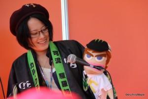 Ranka Fujiwara with a Cal Crutchlow Puppet