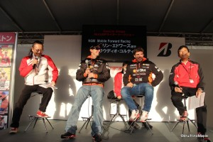 Colin Edwards & Claudio Corti at the Bridgestone Talkshow