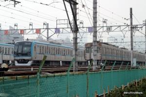 Tozai Line Train Depot