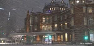 Tokyo Station, Snow