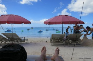 People Watching on Tumon Bay Beach