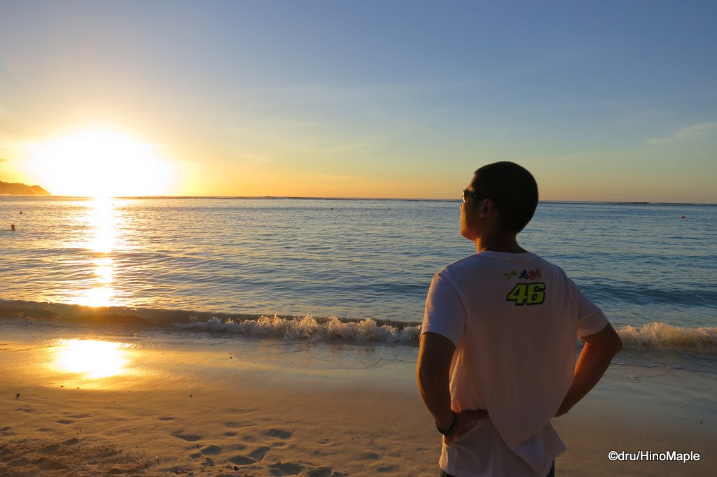 Enjoying the sunset on Guam