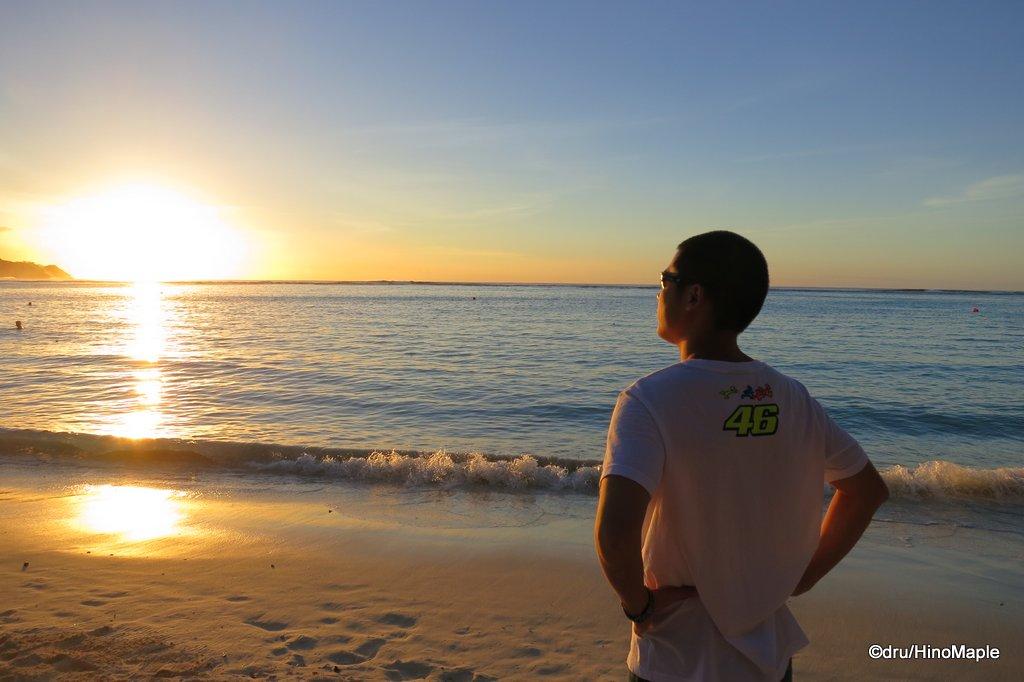 Enjoying the sunset on Guam