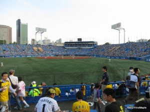 Jingu Stadium at the Start of the Game