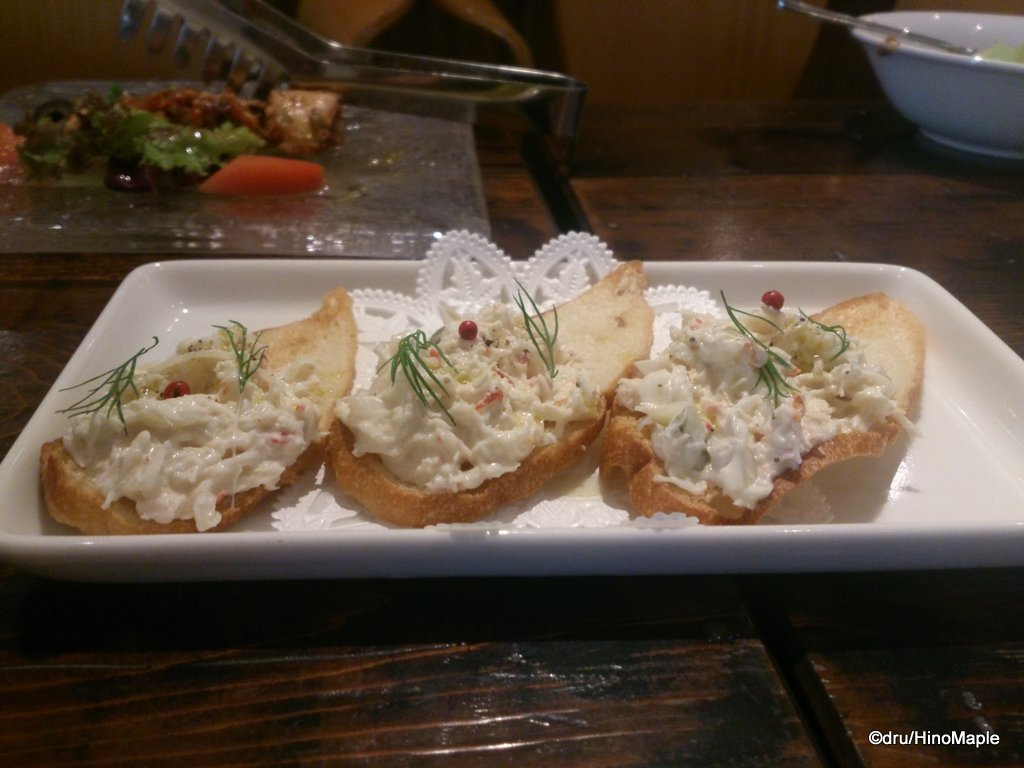 Crab Bruschetta @ True Brew