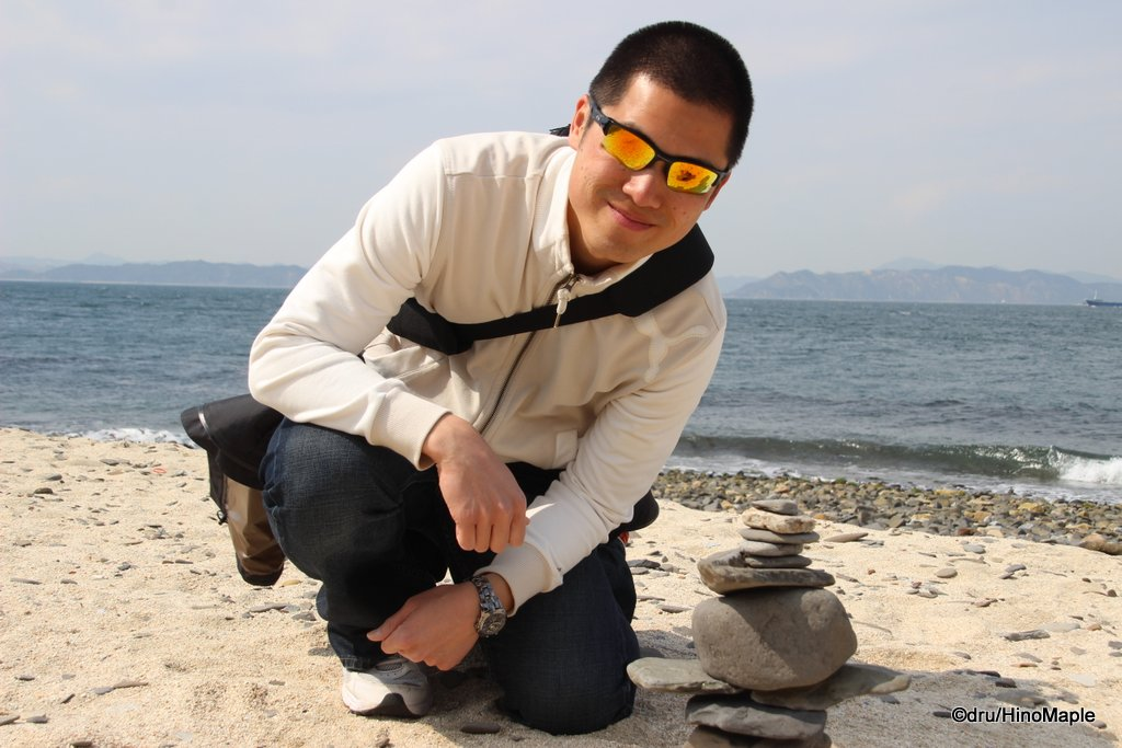 Me and my Inuksuk on Ogijima during the 2013 Setouchi Triennale