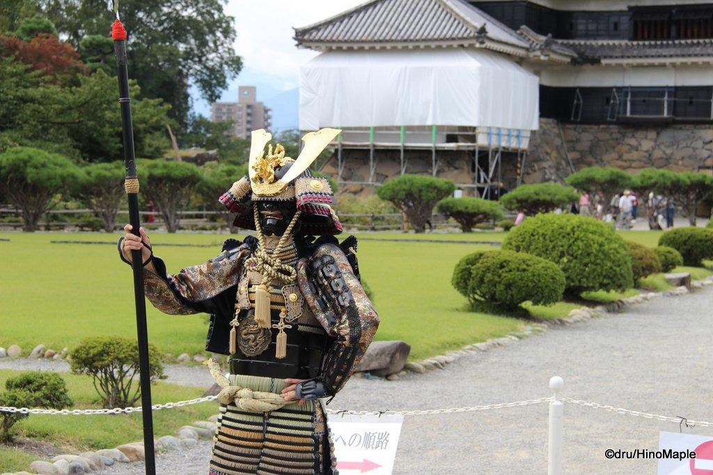 Samurai at Matsumoto Castle