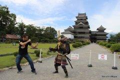 Fighting at Matsumoto Castle