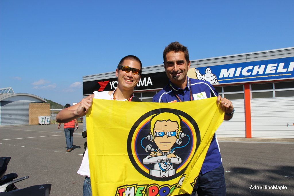 With Matteo Flamigni, Valentino Rossi's Data Engineer @ 2014 Motul Grand Prix of Japan