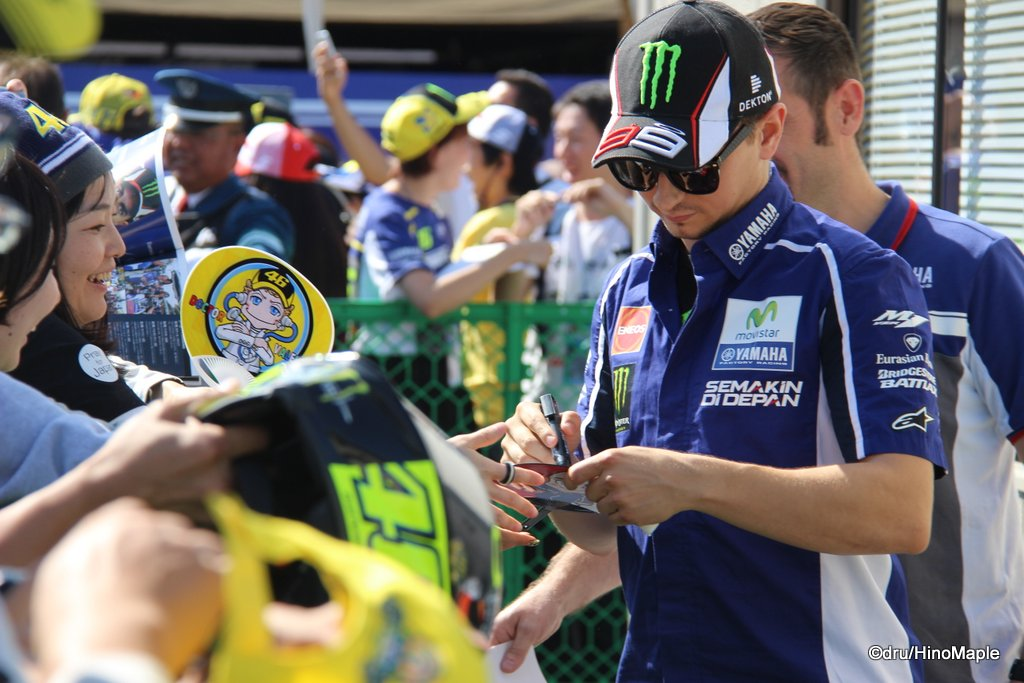 Jorge Lorenzo Making a Fan Happy