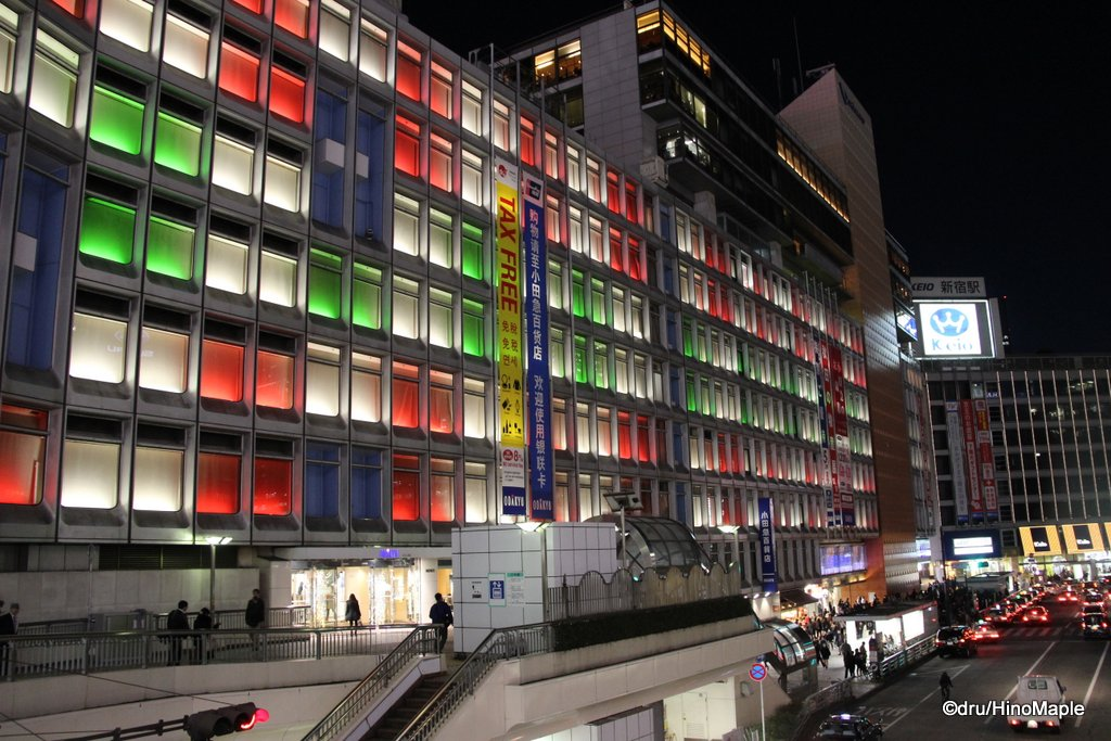 Odakyu Department Store Lit for Christmas