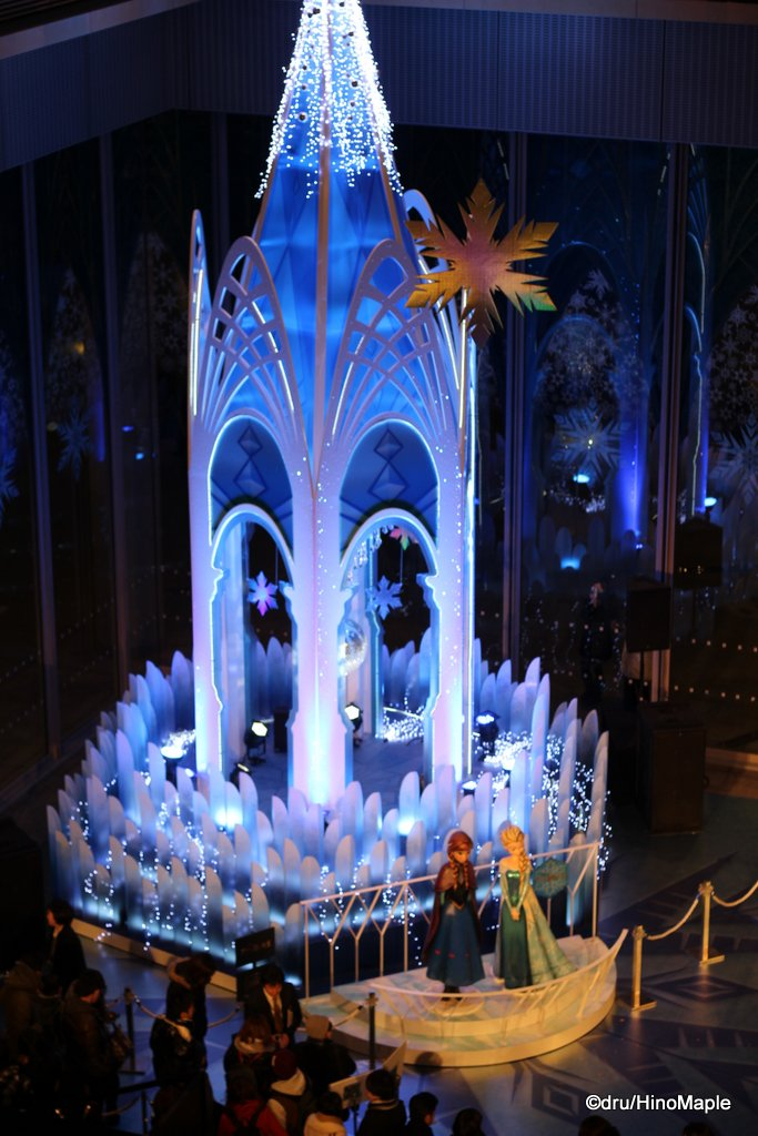 Anna and Elsa's Castle in the Marunouchi  Building