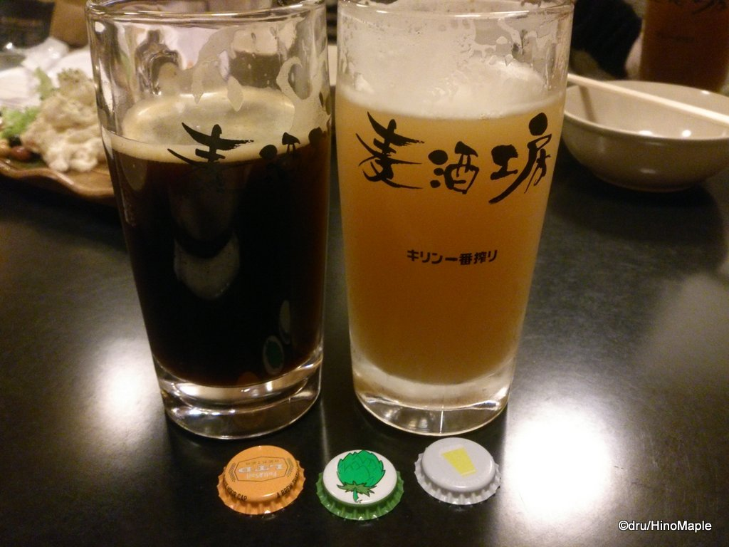 Winter Porter (Left) and the Silk White (Right) from Asagaya Beer Workshop
