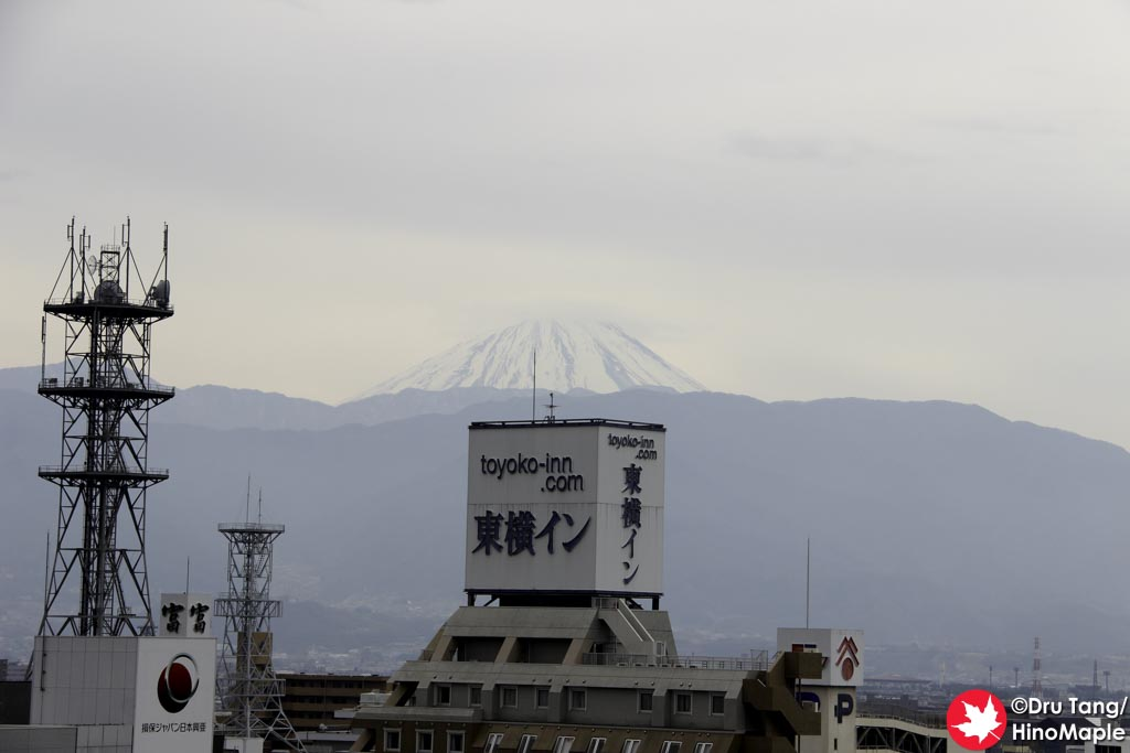 Mt. Fuji from Maizuru Castle Park with the Toyoko Inn