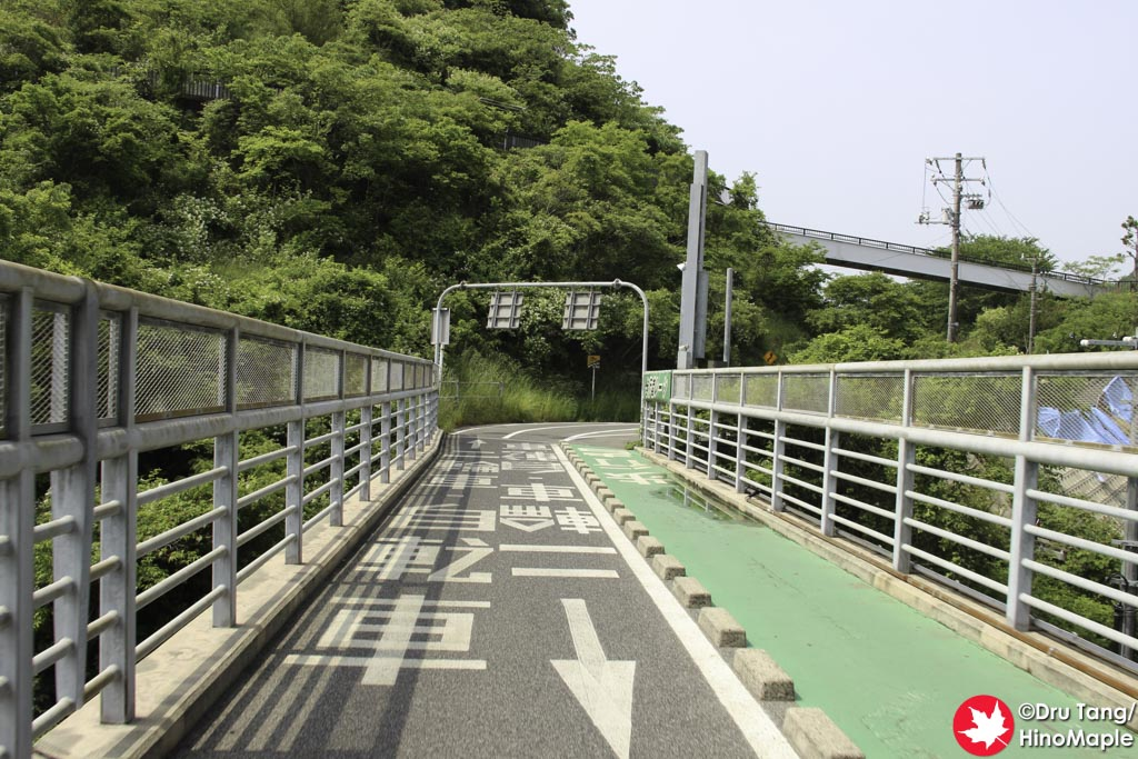 Exiting on the Innoshima Side of Innoshima Bridge