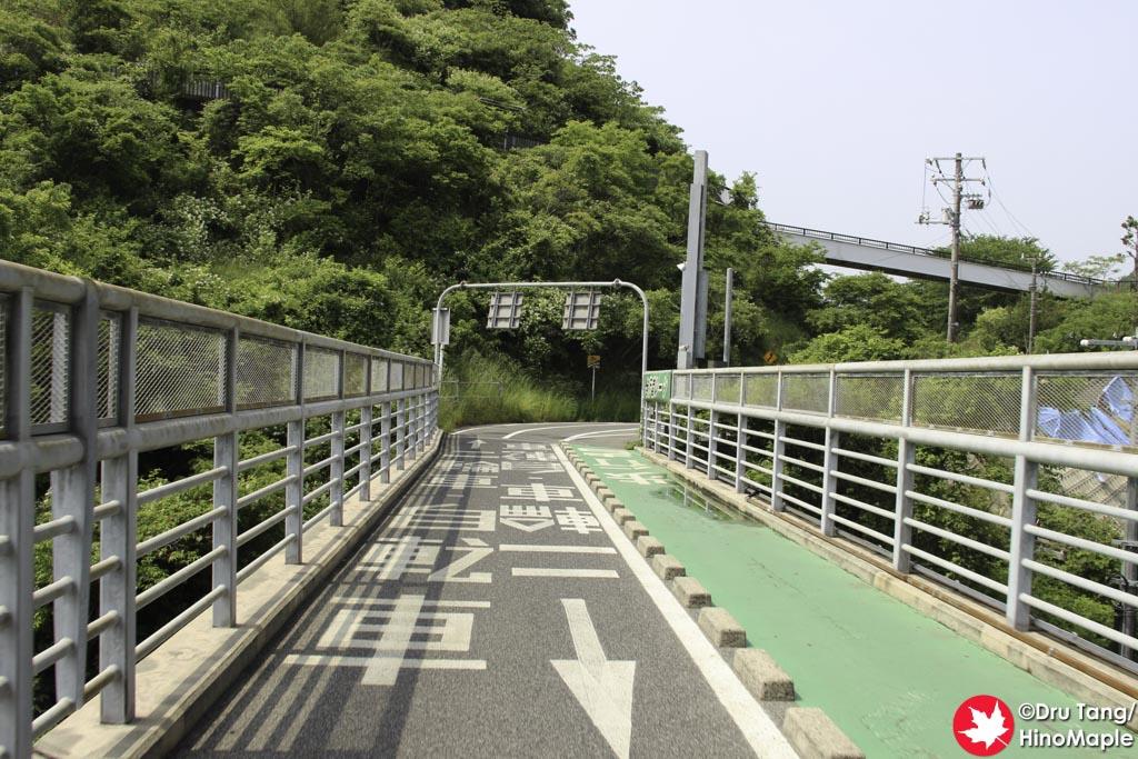 Exiting on the Innoshima Side of Innoshima Bridge