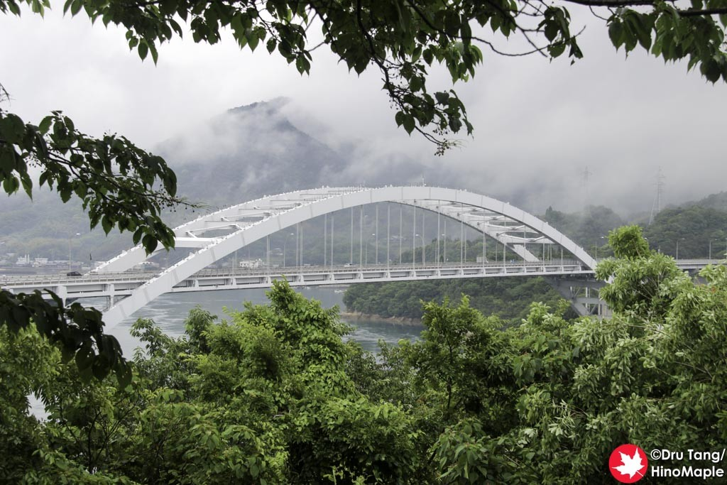 View of Omishima Bridge from Hanaguriseto