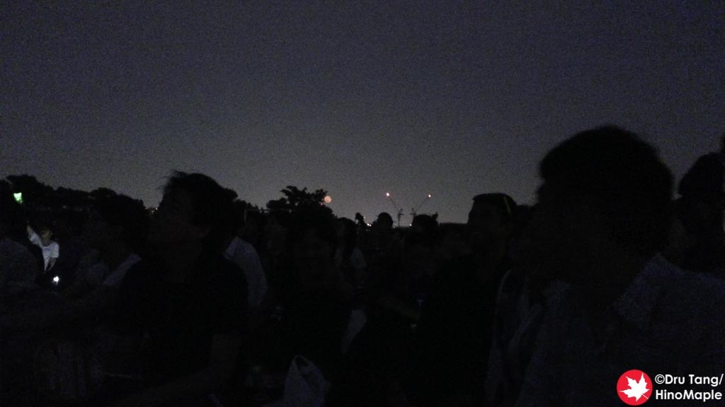 Red Full Moon at the Edogawa Fireworks