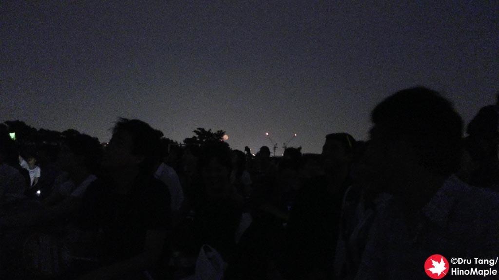 Red Full Moon at the Edogawa Fireworks