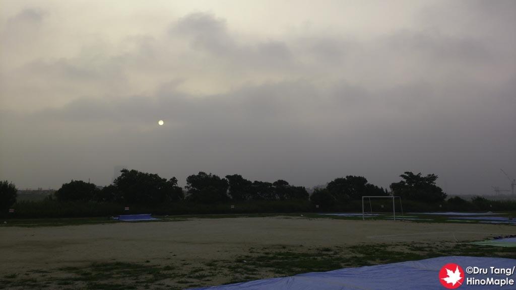 Sunrise at the Edogawa Fireworks