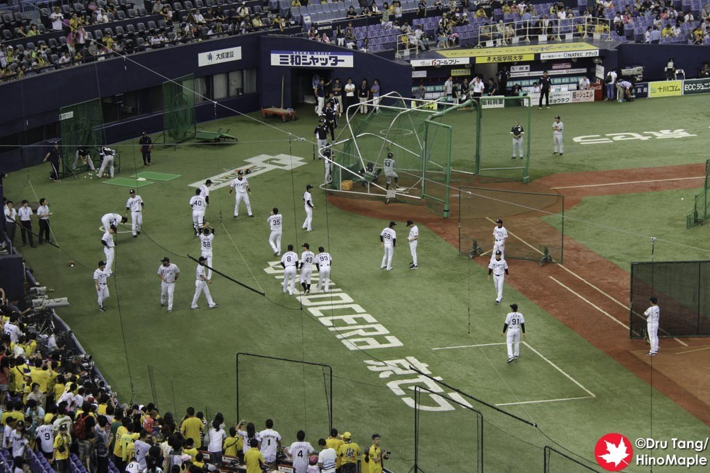 Hanshin Tigers Warming Up