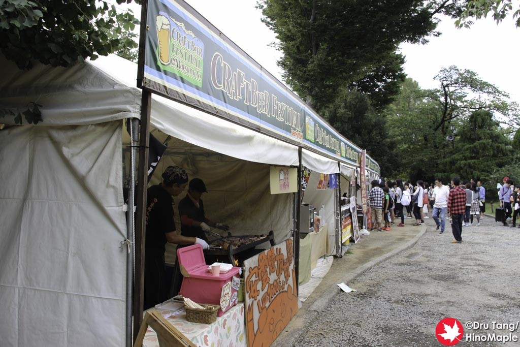 "Food ""Street"" at the 2015 Craft Beer Festival in Matsumoto"