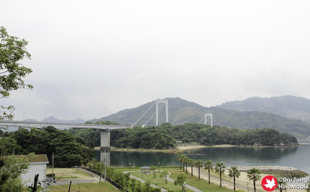 Hakata Bridge (Foreground) and Oshima Bridge (Background behind the Island)