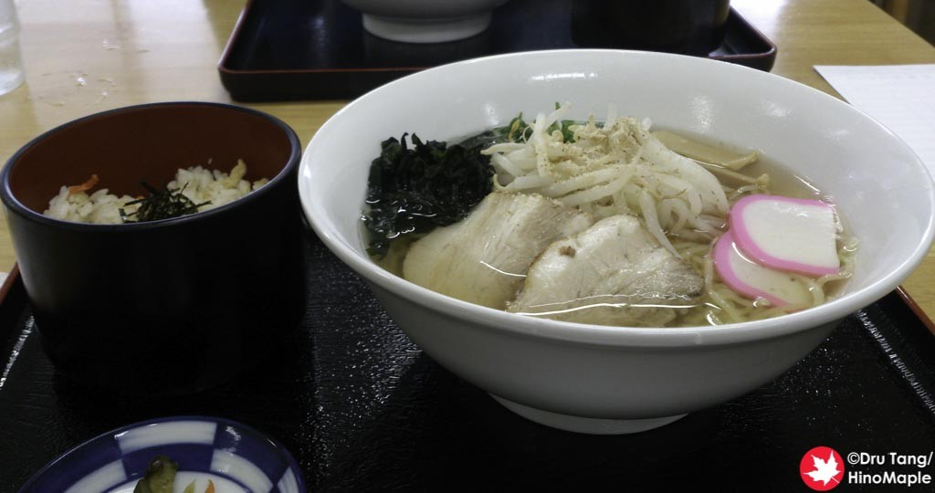 Salt Ramen and Tai Meishi at Hakatajima SC Park