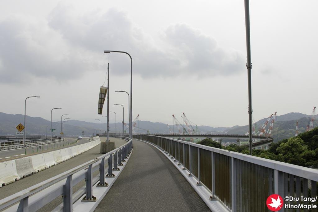 Past the Last Tower on the Imabari Side of the Kurushima Kaikyo Bridge