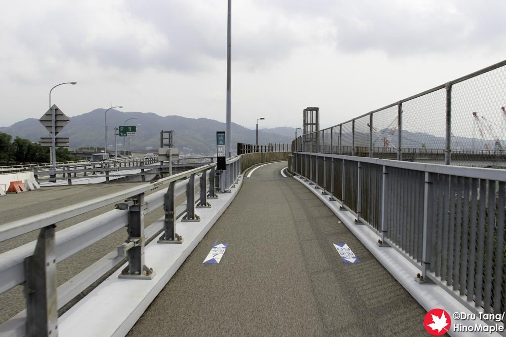 Entrance to the Approach of the Kurushima Kaikyo Bridge (Imabari Side - Downhill)