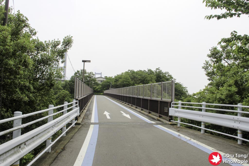 Cyclists Bridge on the Approach to the Kurushima Kaikyo Bridge