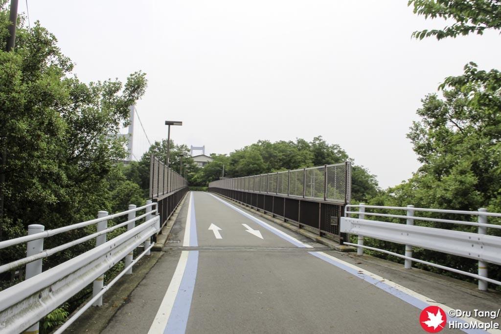 Cyclists Bridge on the Approach to the Kurushima Kaikyo Bridge