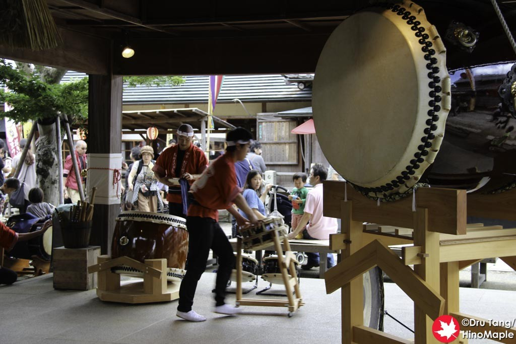 Cleaning up after Drumming at Okage Yokocho