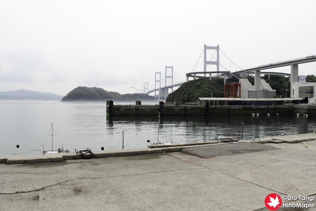 View of the Kurushima Kaikyo Bridge from the Yoshiumi Iki Iki Kan