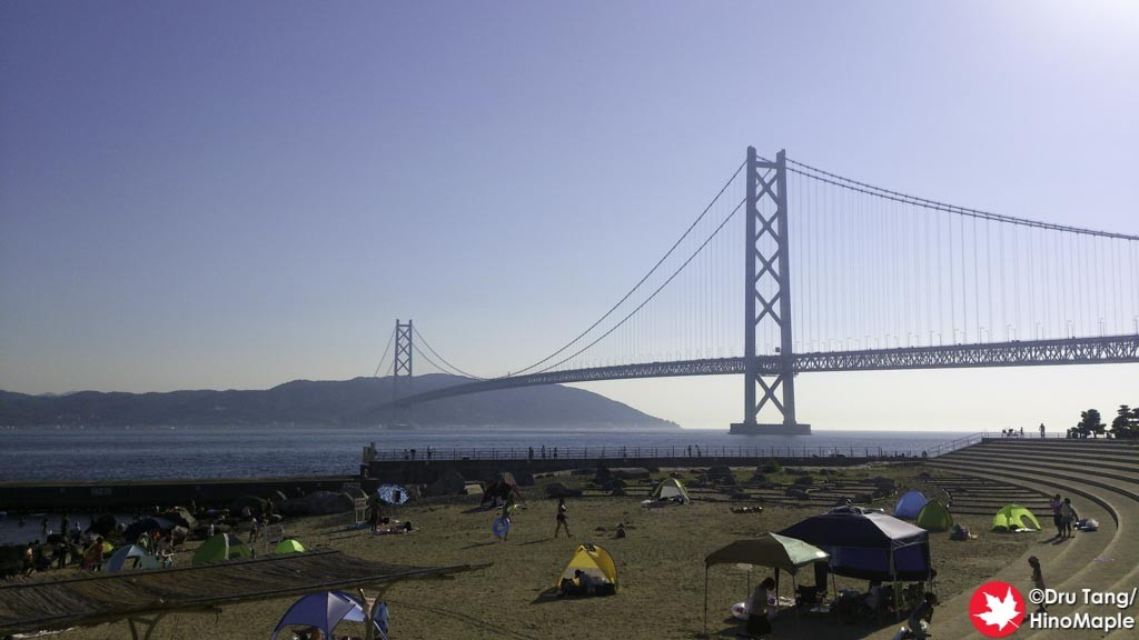 Akashi Kaikyo Bridge from the Beach