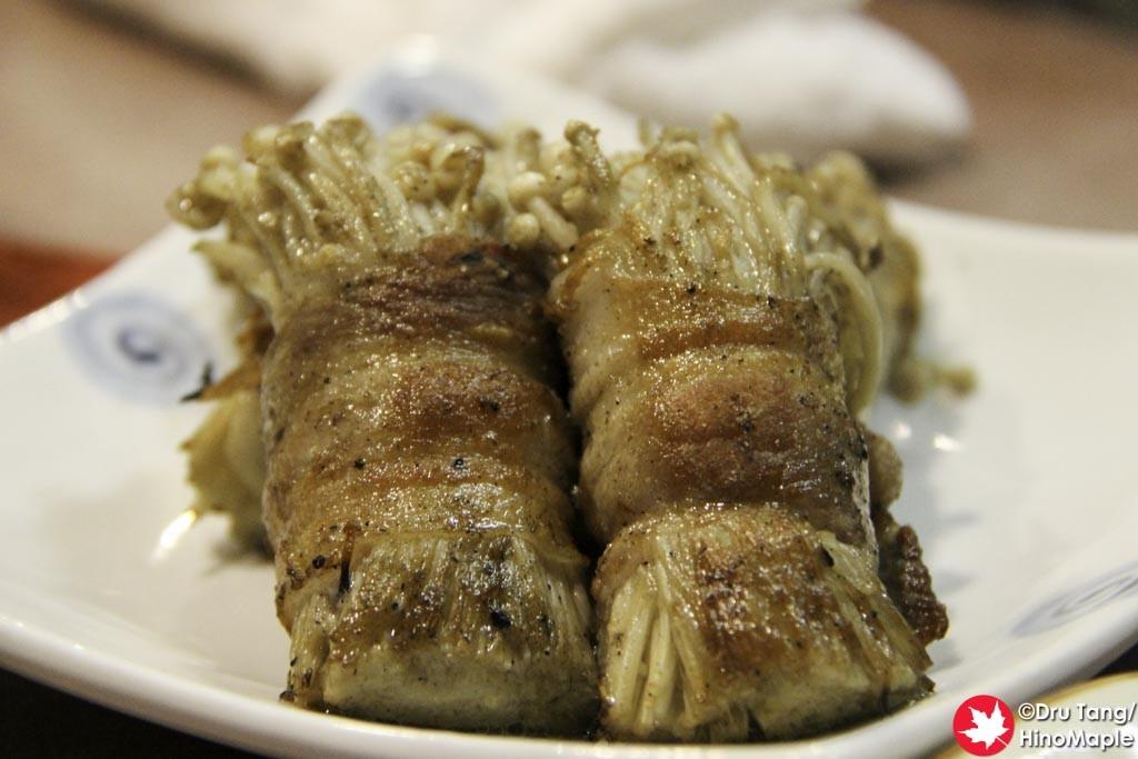 Bacon Wrapped Enoki Mushrooms
