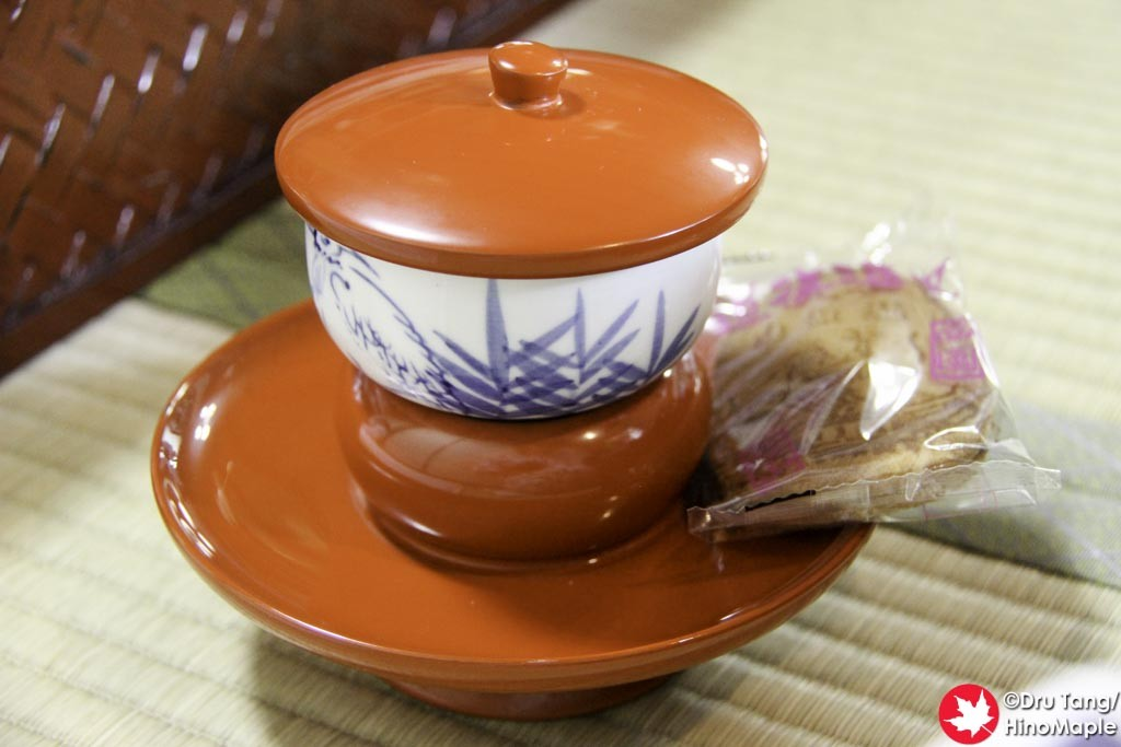 Tea and Senbe at Dogo Onsen (Honkan)