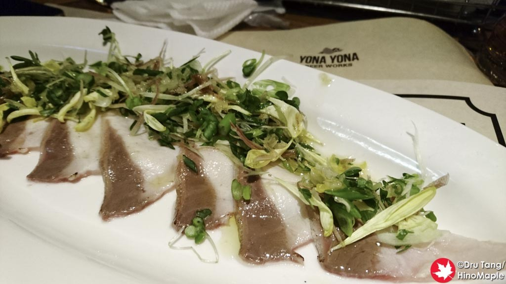 Carpaccio at Yona Yona Beer Works (Kanda)